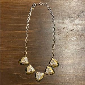 J. Crew Crystal and tortoise shell necklace